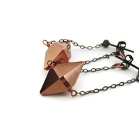 minimalist rose gold spike earrings fall trends