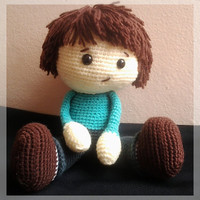 Amigurumi boy, made to order.
