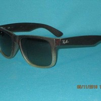 Kalete RAY BAN RB4165 JUSTIN CLASSIC 855/8G Matte Brown/Gray Gradient Unisex Sunglasses
