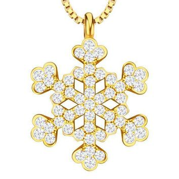 Fashion Accessories Cubic Zirconia Princess Flower Necklace & Pendants 18k Gold/platinum Plated For Women Gift P30158