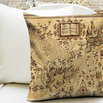 Harry Potter World Map Pillow Cases