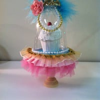 Shabby chic princess...(set of 4) mini cupcake stands
