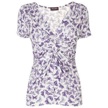 Buy Phase Eight Dancing Butterfly Top, Pansy/Ivory online at John Lewis