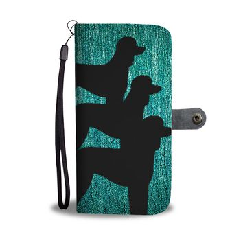 Poodle Dog Art Print Wallet Case-Free Shipping