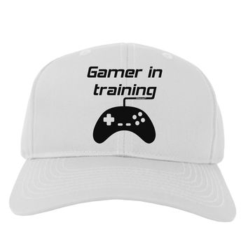 Gamer In Training BnW Adult Baseball Cap Hat