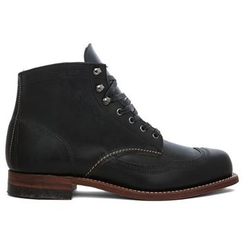 Wolverine 1000 Mile Addison Wingtip Boot in Black