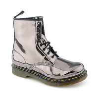 Dr. Martens Womens 1460 silver low heel combat | Shiekh Shoes