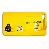 Star Wars Lego Darth Vader Funny Fun Case iPhone CUTE Yellow Phone Cover Cute