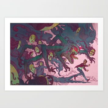 Demons Art Print by Michelle Lockamy
