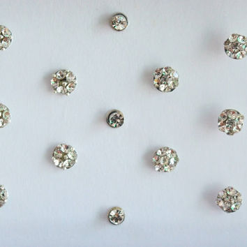 37 Tiny Round Silver Bindis Stickers,Wedding Round Bindis,Stone Bindis,Silver Bindis,India Bindis,Bollywood Bindis,Self Adhesive Stickers