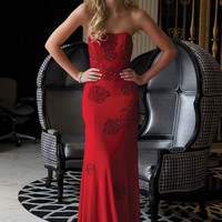 Jovani 22769 Rose Jeweled Prom Dress Evening Gown SALE