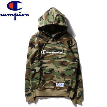 PEAPUF3 champion Women/Men Fashion Long Sleeve Camouflage Pullover Sweater Sweatshirt Hoodie