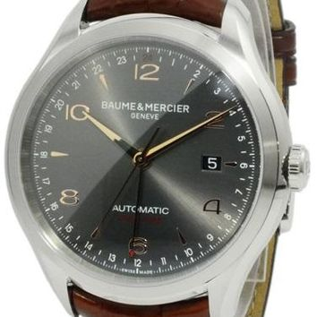 Baume and Mercier Clifton Leather Automatic Watch MOA10111