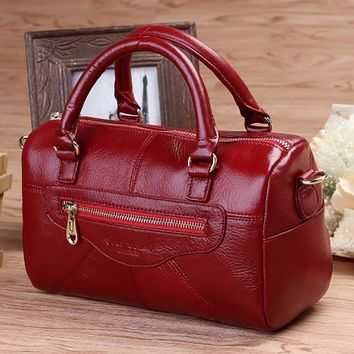 Genuine Leather Women Fashion Messenger Sling Shoulder Bag Designer Cross Body Satchel Ladies Casual Tote Bag Cowhide Handbag