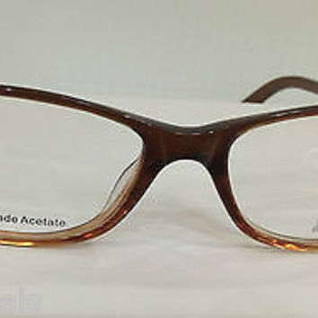 NEW AUTHENTIC JLO JL268 COL 086 BROWN PLASTIC EYEGLASSES FRAME BY JENNIFER LOPEZ