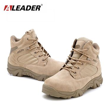 Aleader Waterproof Men's Combat Boots Vintage Military Boots For Men Outdoor Ankle Boots American Tactical Desert Shoes Botas