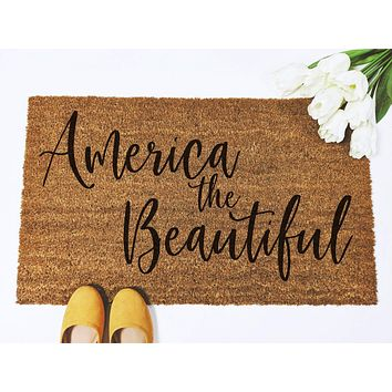 America the Beautiful Doormat