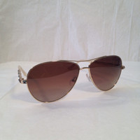 Judith Leiber ladies aviator designer sunglasses