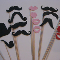 Photo Booth Props Set Ladies and Gentleman by olivetreemonograms