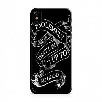 I Solemnly Swear That I Am Up To No Good iPhone X Case