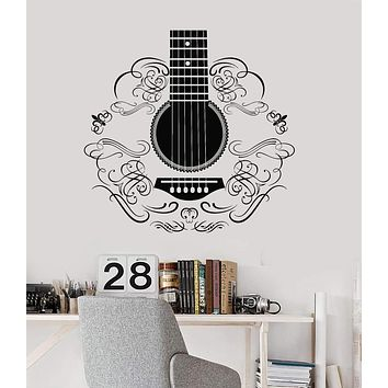Vinyl Wall Decal Music Guitar Musical Instrument Patterns Decor Stickers Unique Gift (ig3324)