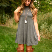 Break Free Dress - Charcoal