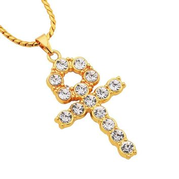 New Arrival Stylish Shiny Jewelry Gift Alloy Cross Rack Necklace [10819552131]