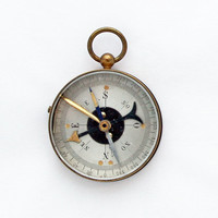 1950s French Collignon-Houlliot Type Compass / Working Brass Compass
