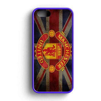 Manchester United Logo And Flag iPhone 5 Case iPhone 5s Case iPhone 5c Case