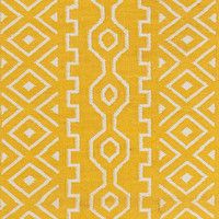 Jaipur Rugs FlatWeave Tribal Pattern Yellow/Ivory Wool Area Rug UB19 (Runner)