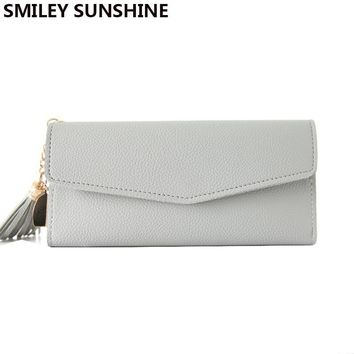 SMILEY SUNSHINE long clutch slim wallet fashion handy hasp women wallets female thin coin purse card holders wallet money bag
