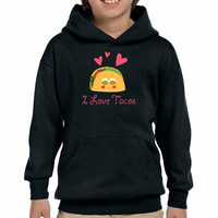 taco mexican i love tacos Youth Hoodie
