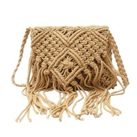 Handmade Cotton Rope Woven Tassel Shoulder Bag