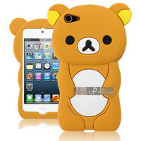 Teddy Bear 3D Cute Soft Rubber Case  Cover Skin for Apple ipod touch 5 5Gen