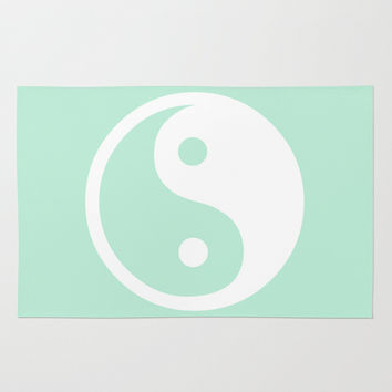 Harmony Yin Yang Mint Green Rug by Beautiful Homes