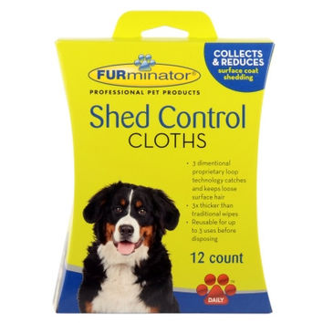 FURminator Dog Shed Control Cloths 12Ct