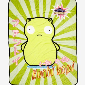 Licensed cool Bob's Burgers Kuchi Kopi Neon Fleece Plush Throw Blanket Super Soft Licensed NWT