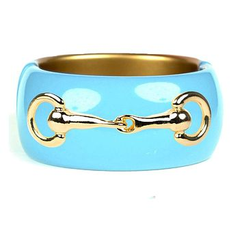 Handcrafted Turquoise Snaffle Bit Cuff Bracelet