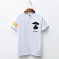 'AAPE'Couple Short Sleeve Summer Simple Design Strong Character Fashion T-shirts [10425657607]