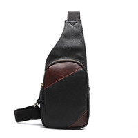 black casual leather bag