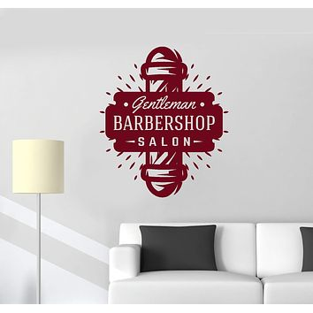 Vinyl Wall Decal Barbershop Salon Gentleman Barber Hairdresser Decor Stickers Mural (ig5635)