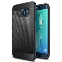 Galaxy S6 Edge Plus Case, Spigen® [Neo Hybrid] Metallized Buttons [Gunmetal] Bumper Style Premium Case Slim Fir Dual Layer Portective Cover for Galaxy S6 Edge+ (Plus) - Gunmetal (SGP11704)