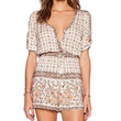 Spell & The Gypsy Collective Desert Rose Playsuit in Cream