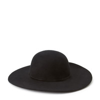 Floppy Wide-Brim Wool Hat