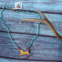 War Paint Horse Necklace