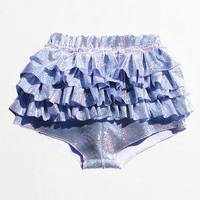 ChainCandy Holographic Hologram High Waisted Ruffled Swimsuit Bottom