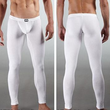 Hot Shapers Men Long Johns Men's Bodysuit Warm Pants Male Girdle Loungewear Man Compression Underwear