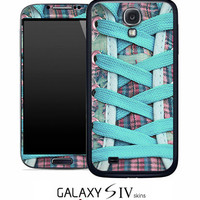 Blue Converse Laced Skin for the Samsung Galaxy S4 by TheSkinProz