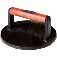 Jim Beam Cast Iron Burger Press With Wood Handle
