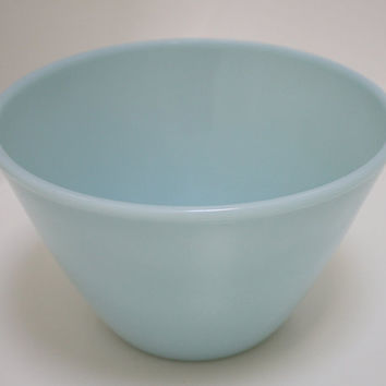 Fire King Azurite Blue Splash Proof Bowl, 2 qt. Fire King Bowl, home decor, Fire King collectibles,